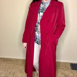 Talbots | Vintage Floor Length Red Trench Coat